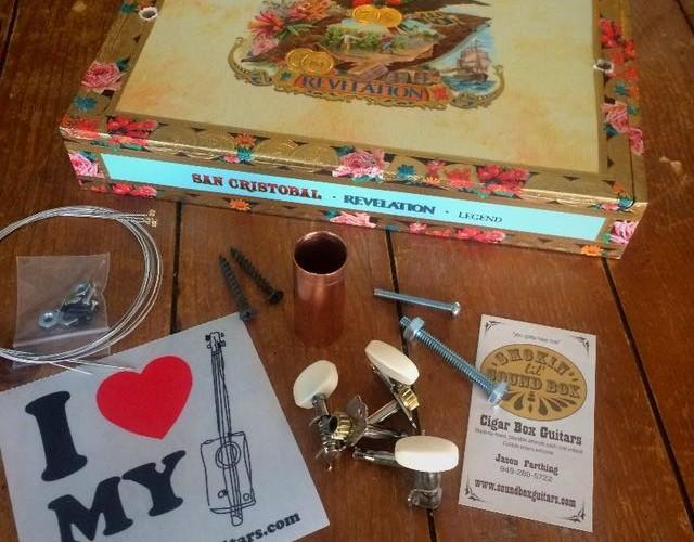Cigar Box Guitar Kit including the neck